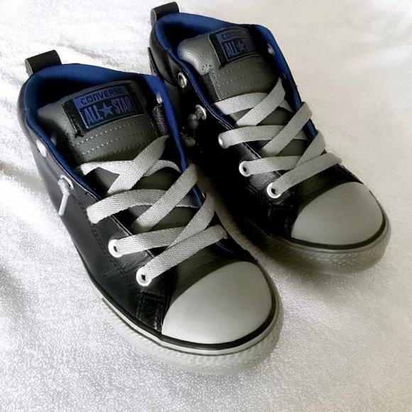 4e7419f5d2f Converse Other - Boys black leather converse-4